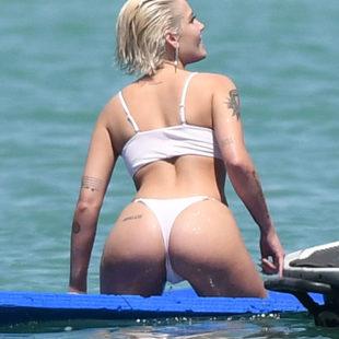 Halsey See Through And Thong Bikini Shots