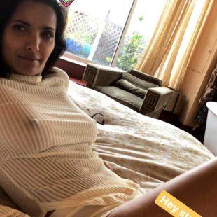 Padma Lakshmi Nude And White Bikini Photos