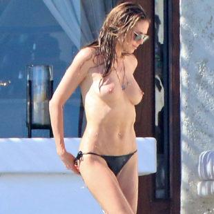Heidi Klum Tanning Topless With The Boyfriend