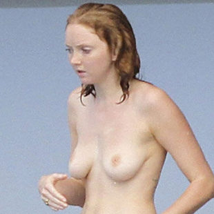 Lily Cole Caught By Paparazzi Topless On A Yacht