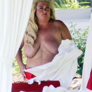 Gemma Collins Caught Topless On A Beach