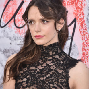 Stacy Martin Posing In Sexy Transparent Dress