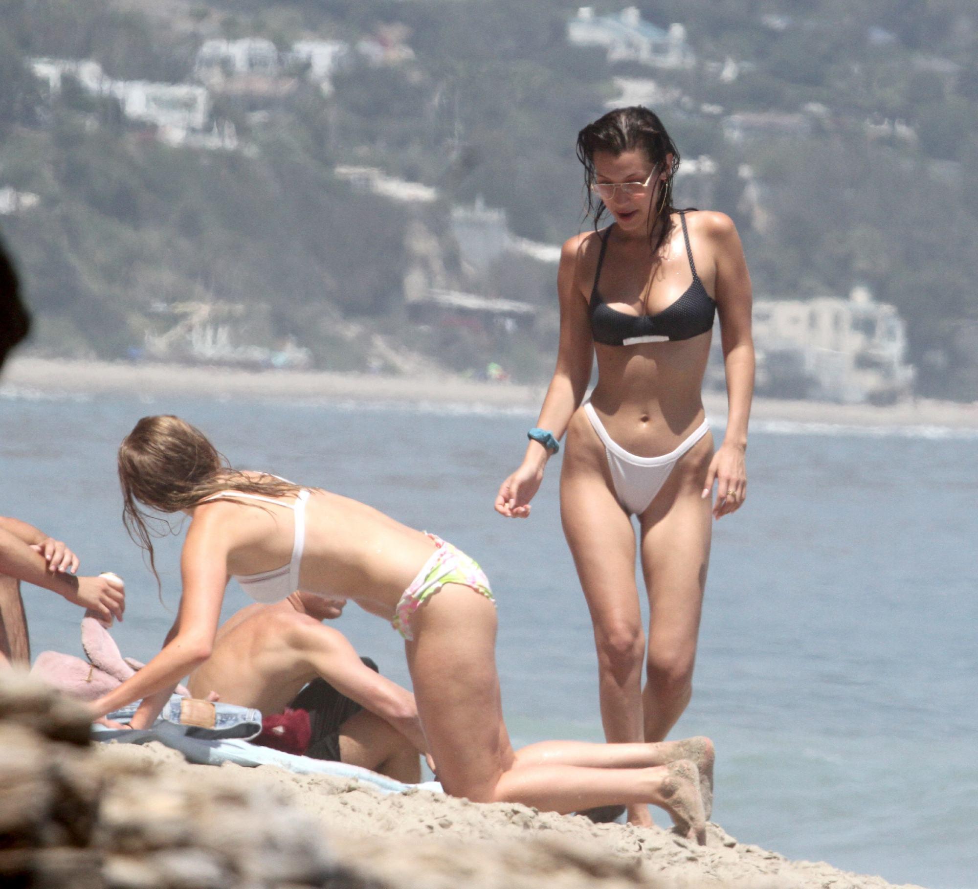 Bella Hadid See Through And Bikini Ass Photos