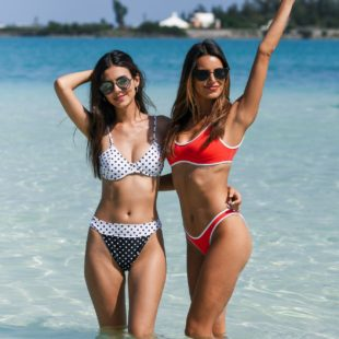 Victoria Justice & Madison Grace Bikini Yacht Party