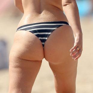 Tanya Burr Shows Off Her Butt In Thong Bikini