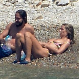 Heidi Klum Caught Topless And Bikini