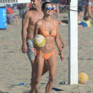 Alessandra Ambrosio Sexy Bikini During Beach Volleyball