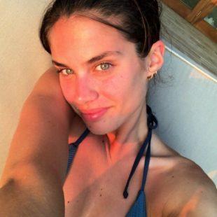 Sara Sampaio Teasing In Sexy Swimsuit Under The Shower