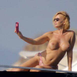 Marlene Mourreau Topless On A Yacht