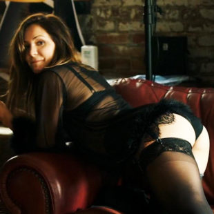 Katharine McPhee Looking Hot In Sexy Black Lingerie In Bayou Caviar (2018)