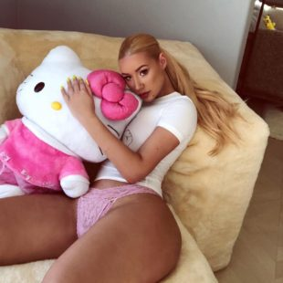 Iggy Azalea Poses In Pink Lacy Panties For Instagram