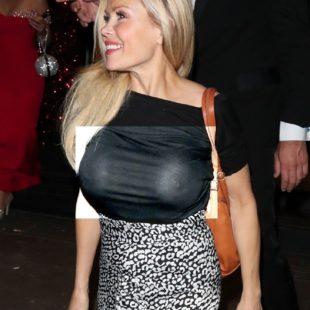 Melinda Messenger Flashing Her Big Tits In See Through