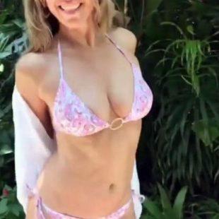 Elizabeth Hurley Nipple Slip & Sexy Bikini