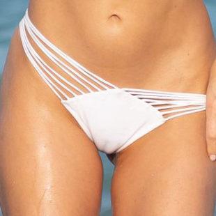 Joy Corrigan Cameltoe And Thong Bikini On A Beach