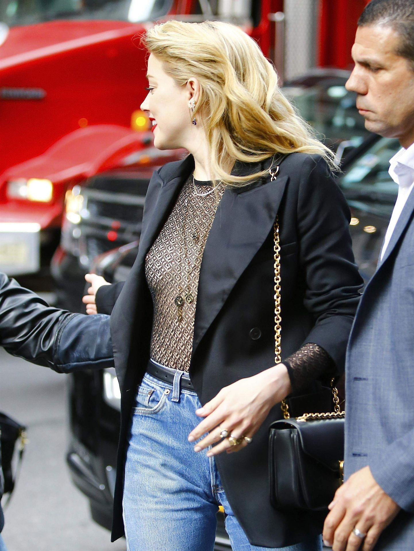 Amber Heard Paparazzi Cleavage And See Through Photos