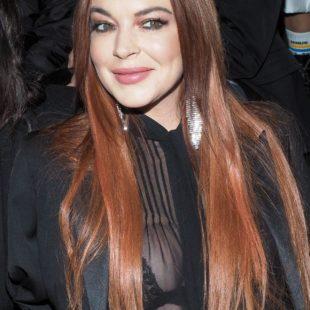 Lindsay Lohan See Through Bra Photos