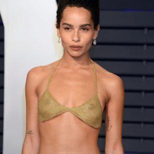 Zoe Kravitz Posing In Hot Transparent Top