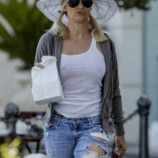 Nicollette Sheridan Braless & See Through Outdoors Pictures