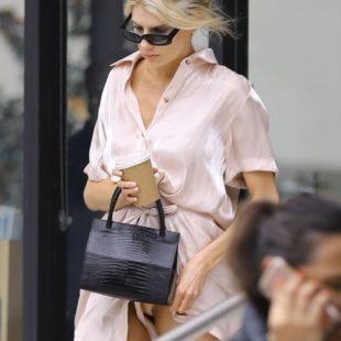 Charlotte McKinney Paparazzi Silk Panties Photos