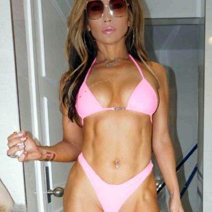 "Jennifer Lopez Exposing Her Stunning Body In Pink Bikini & Leather Pants For New Movie ""Hustler"""