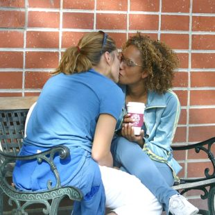 Open Lesbian Couple Mel B & Christine Crokos Caught Kissing On Public