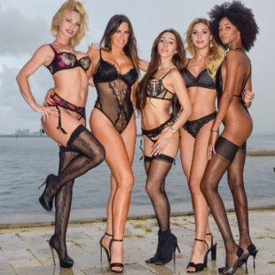 Claudia Romani, Carol Paredes & Falonia Hot Lingerie Photoshoot