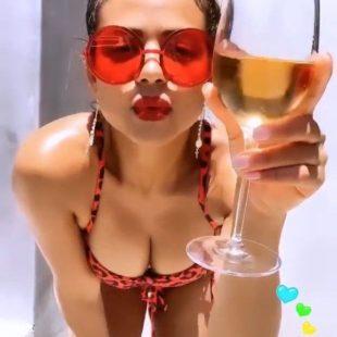 Christina Milian Selfieng In Tiny Bikini