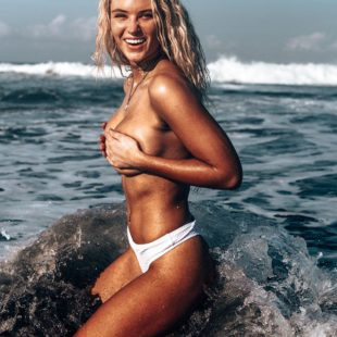 Lucie Donlan Topless And Tight Bikini Photoshoot