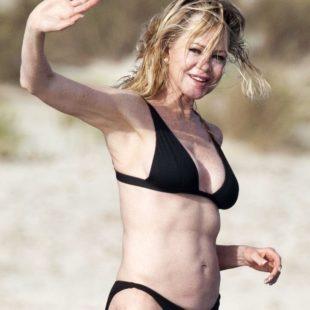 Melanie Griffith Paparazzi Black Bikini Yacht Photos