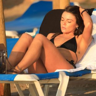 Faye Brookes nipple slip and bikini photos