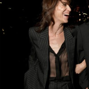 Charlotte Gainsbourg Flashing Her Huge Nipple In See Through