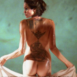 Angelina Jolie Posing Nude And See Through