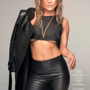 Jennifer Lopez Posing In SeeThru And Leather For GQ Magazine December/January 2019