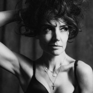 Katie Holmes sexy black & white photoshoot