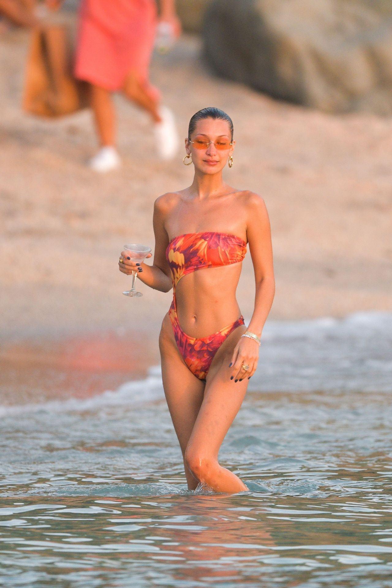 Bella Hadid - Sexy Ass and Underboobs in Bikini on the