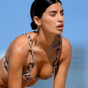 Nicole Williams Sexy Bikini And Areola Slip Beach Photos