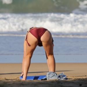Naked women get cum in