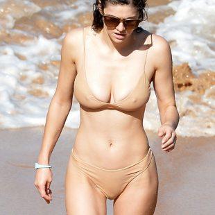 Alexandra Daddario Wet Bikini & Cameltoe Beach Pics