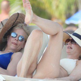 Heather Graham Caught By Paparazzi Sunbathing In Bikini